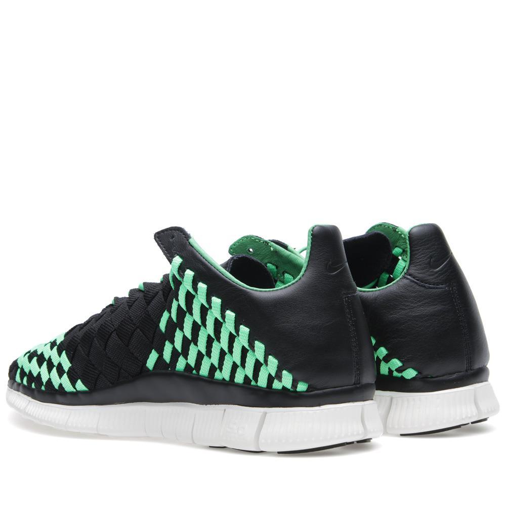 reputable site b908a d0983 Nike Free Inneva Woven Black   Poison Green   END.