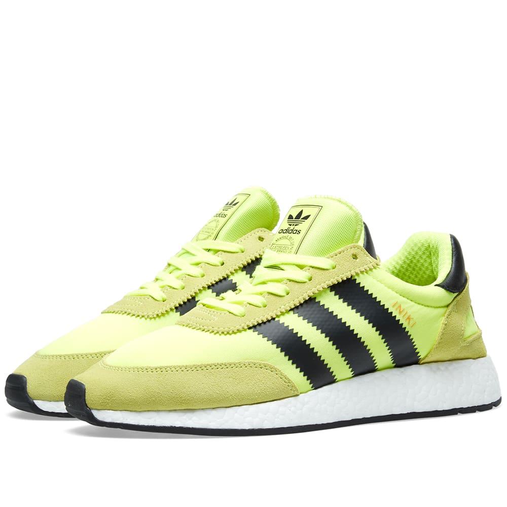 newest a4586 daedd Adidas Iniki Runner Solar Yellow   Black   END.