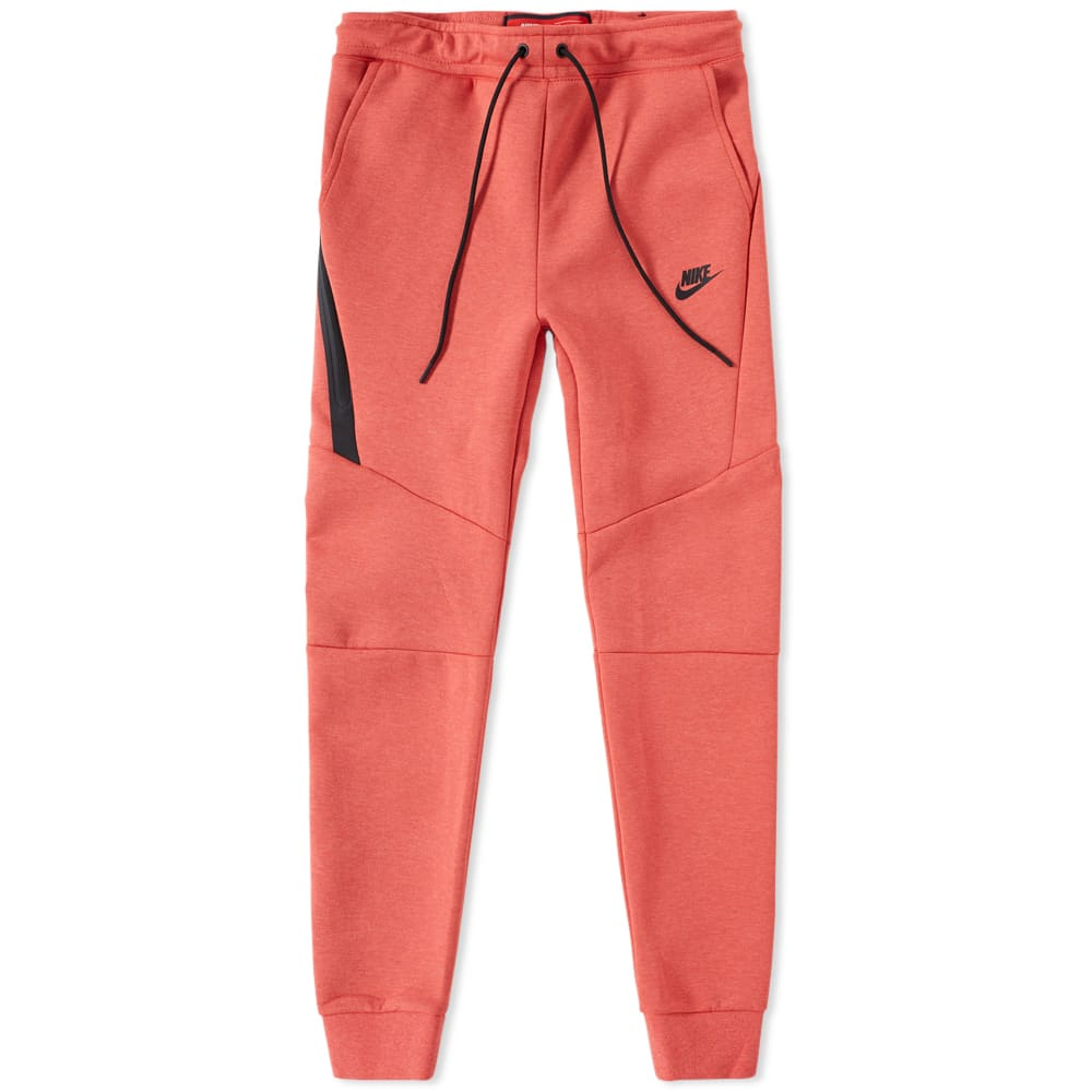 e3bb8976 Nike Tech Fleece Jogger Track Red Heather & Black | END.