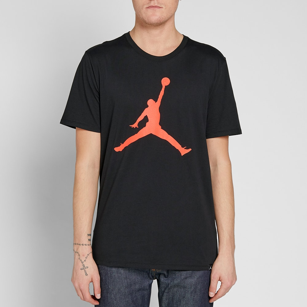 bb8d0c89 Air Jordan Iconic Jumpman Tee Black & Infrared 23 | END.