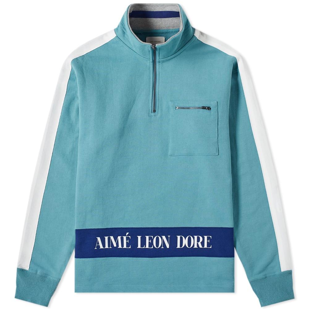 Aime LEon Dore Logo Quarter Zip Sweat