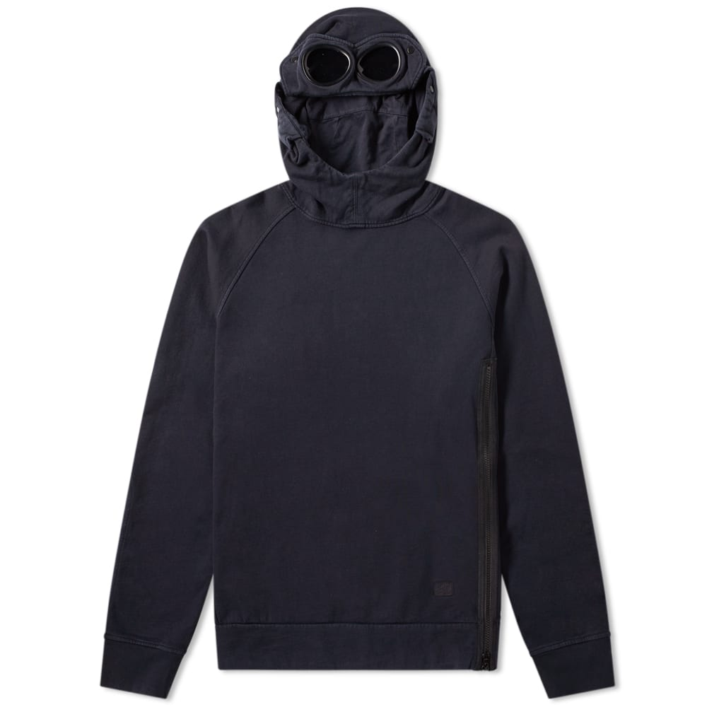 Details about CP Company Goggle Hoody Navy