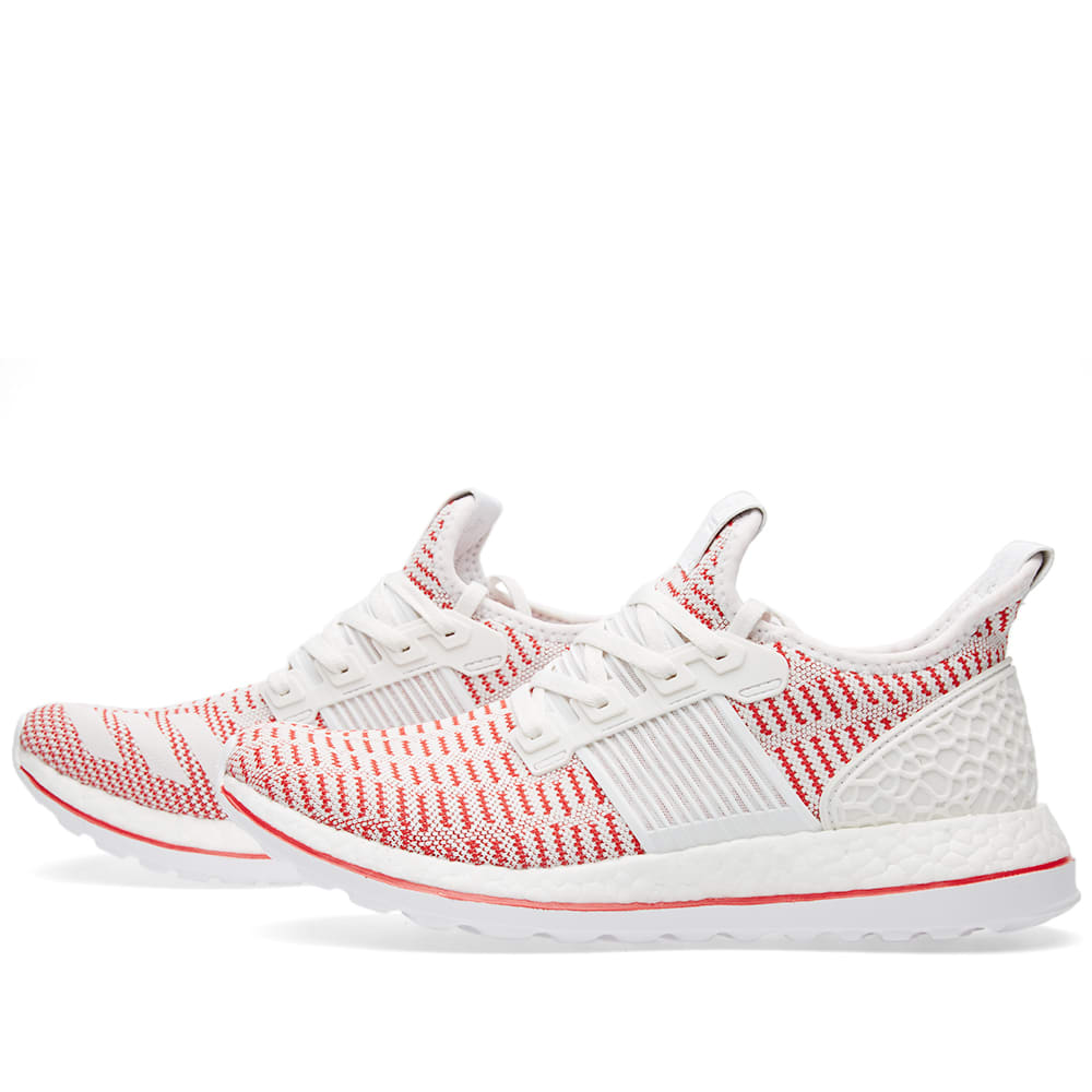 a287f12402811 Adidas Pure Boost ZG Ltd. Crystal White   Vivid Red