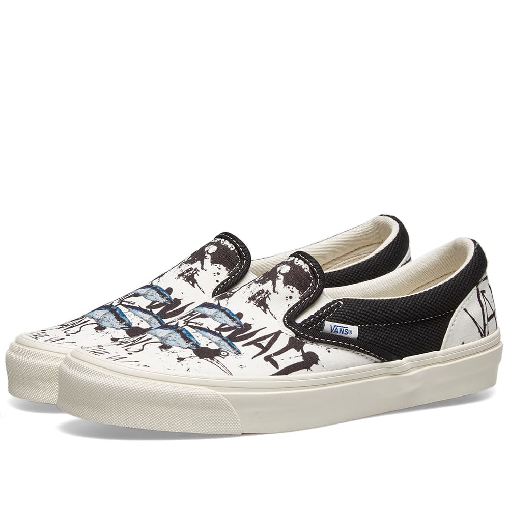 aesthetic appearance top-rated authentic 60% cheap Vans Vault x Ralph Steadman Blue Tuna OG Classic Slip-on LX