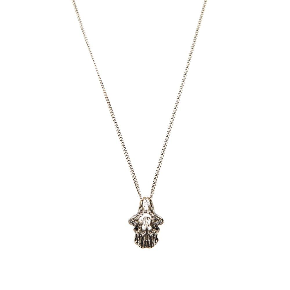 maison martin margiela 11 wolf pendant necklace silver