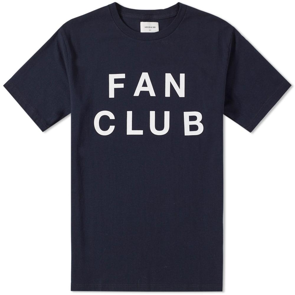 WOOD WOOD Fan Club T-Shirt In Navy - Navy in Blue