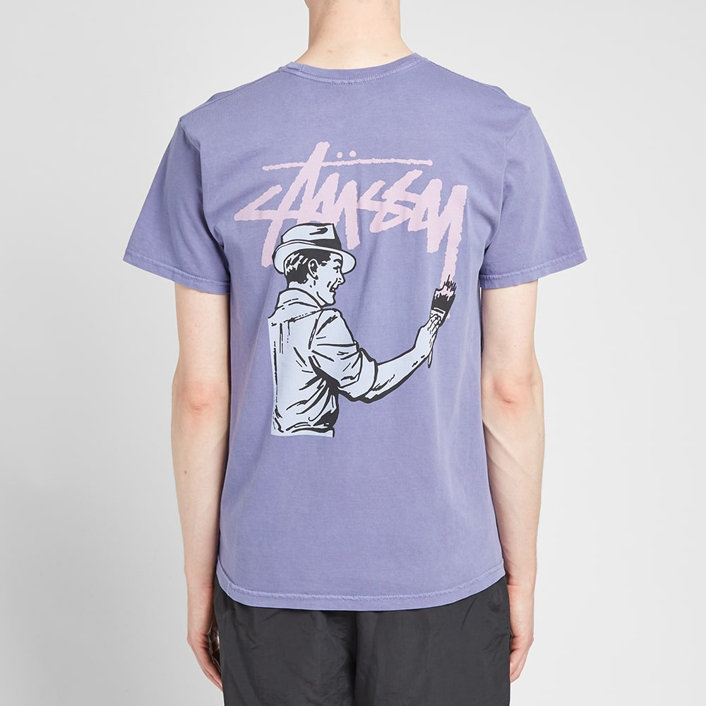 56617619 Stussy Pigment Dyed Painter Tee Purple | END.
