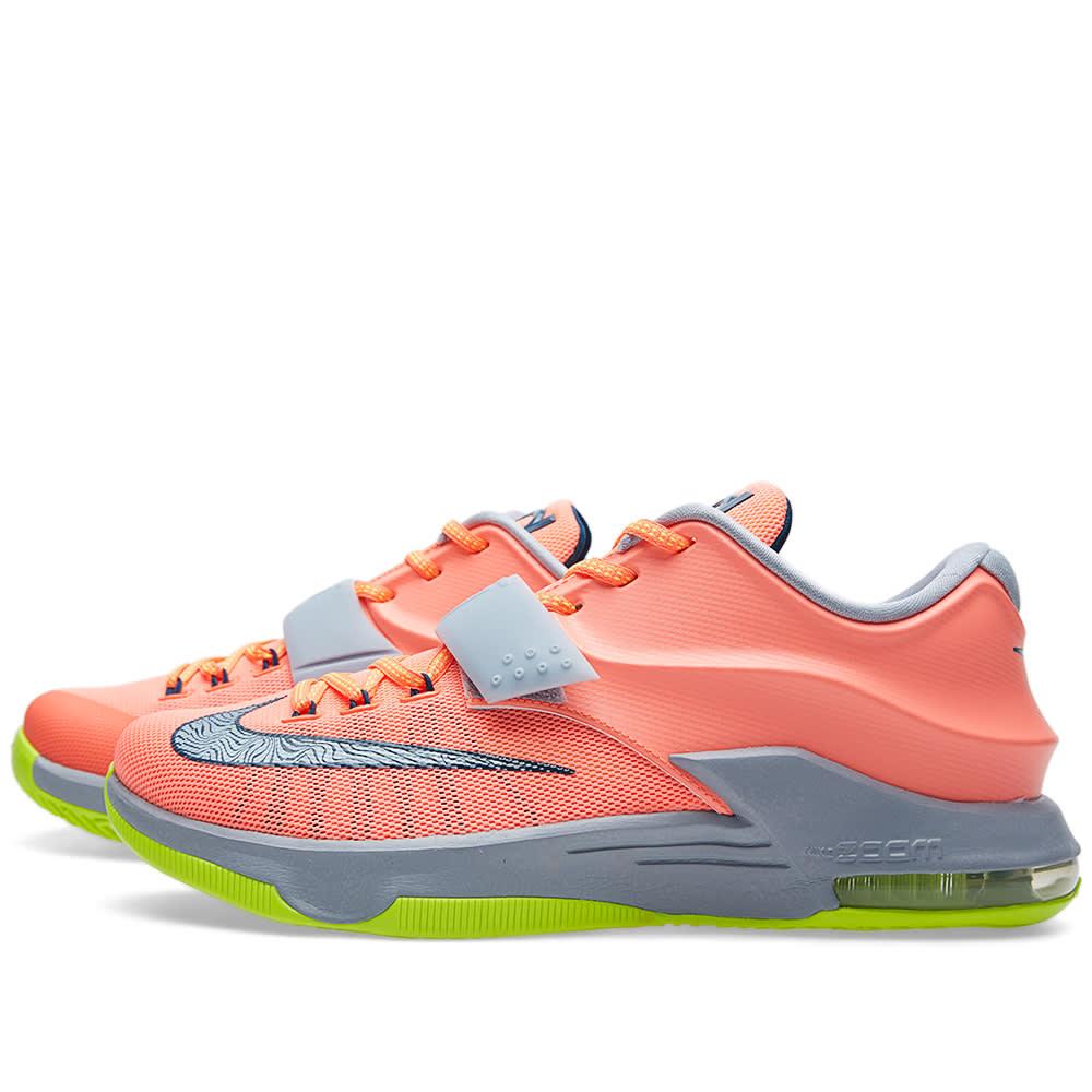 timeless design 26699 27706 Nike KD VII  35K Degrees  Bright Mango   Space Blue   END.