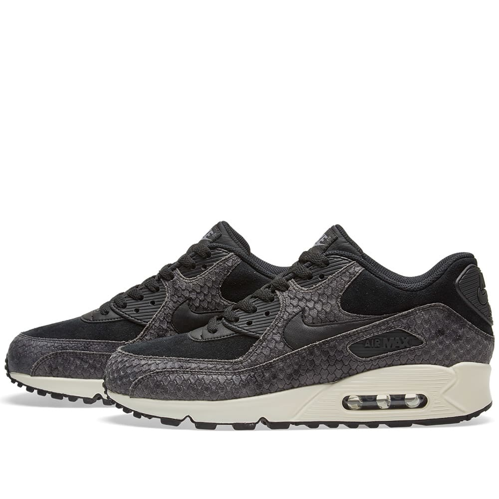 super popular d6daf 02937 Nike Air Max 90 Premium W Black, Sail   Dark Grey   END.