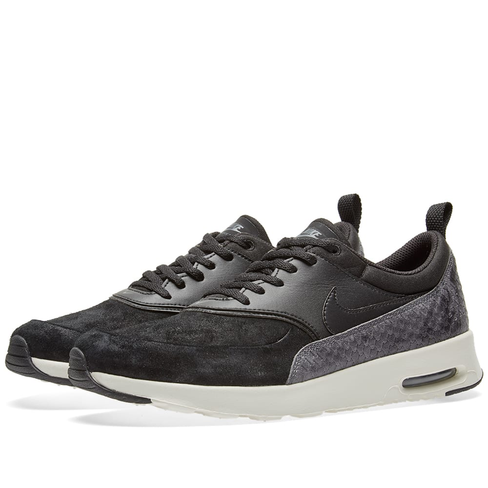 nike air max thea premium w black sail dark grey. Black Bedroom Furniture Sets. Home Design Ideas