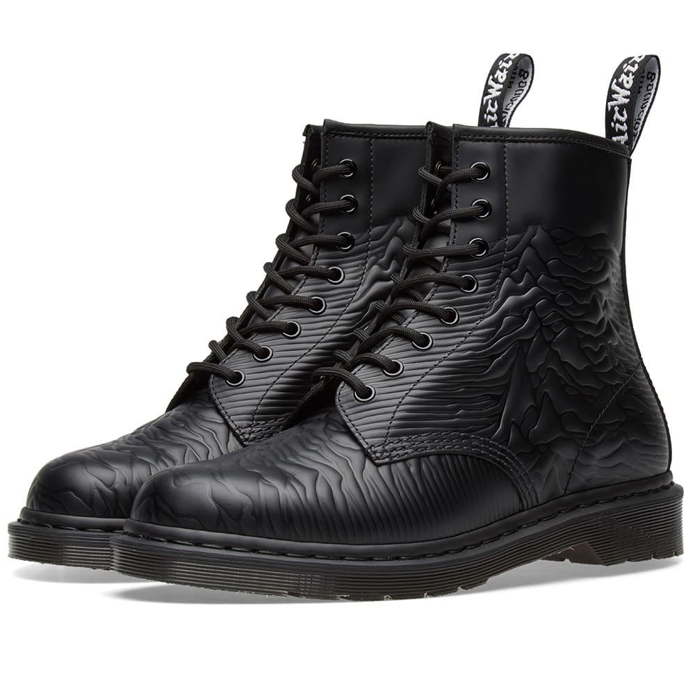 b0e15e0c27d51 Dr. Martens x Joy Division Unknown Pleasures Boot Black Smooth | END.