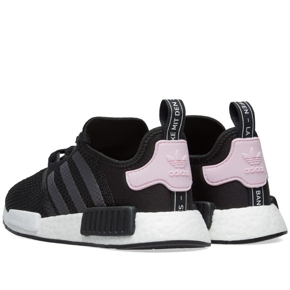 02be89f0a595f Adidas NMD R1 W Core Black   Clear Pink