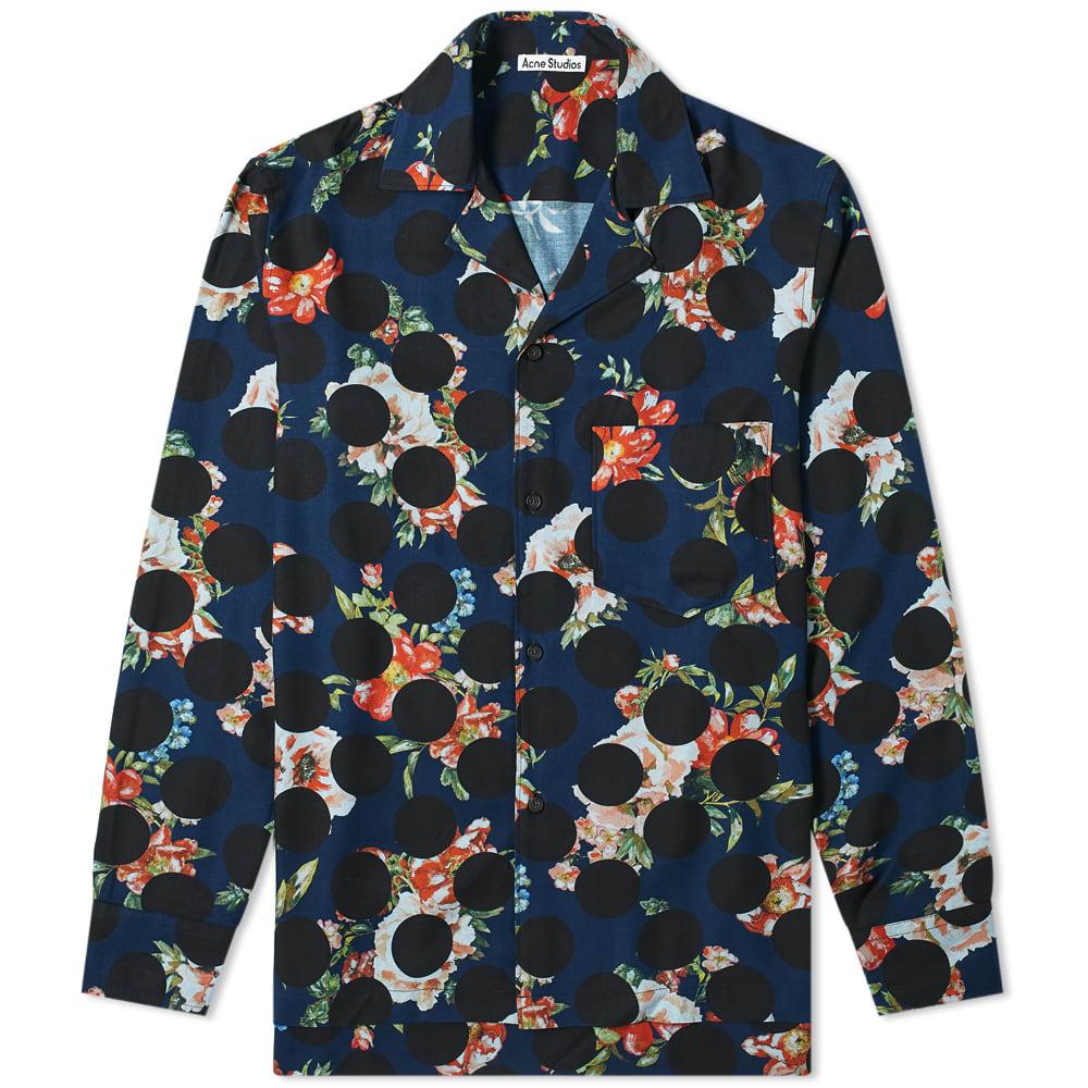 Acne Studios Acne Studios Simon Floral Polka Print Shirt