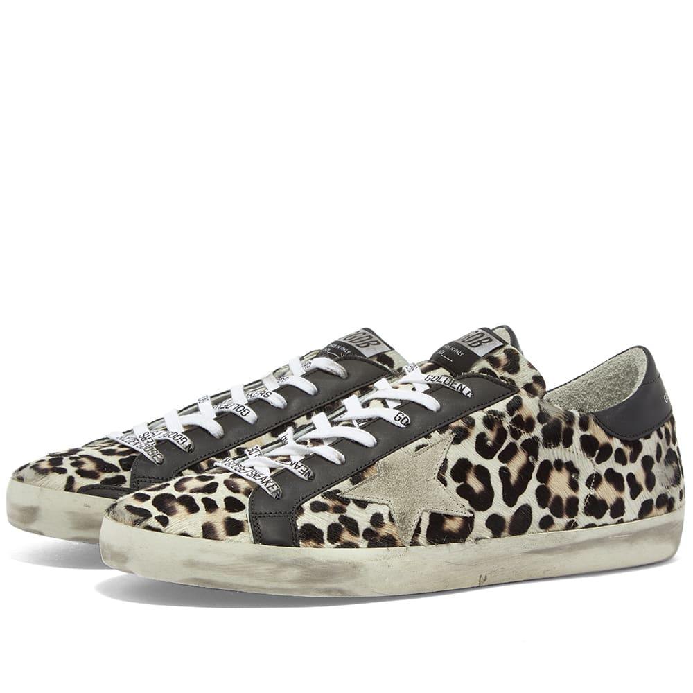 Golden Goose Superstar Leopard Horsy Leather Heel Sneaker