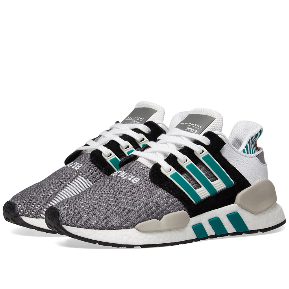 new concept 38ee3 47f85 Adidas EQT Support 91 18 Core Black, Granite   Green   END.