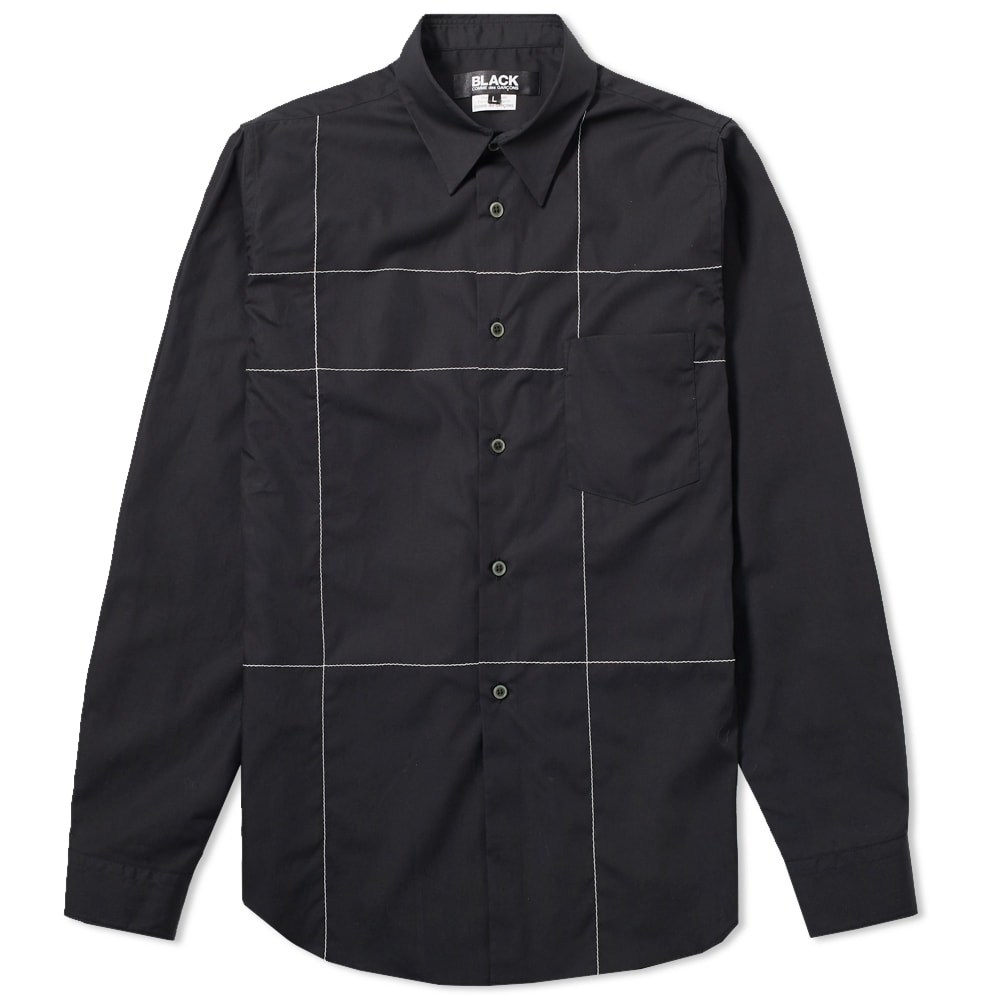 COMME DES GARCONS BLACK Comme Des Garcons Black Stitched Out Check Shirt