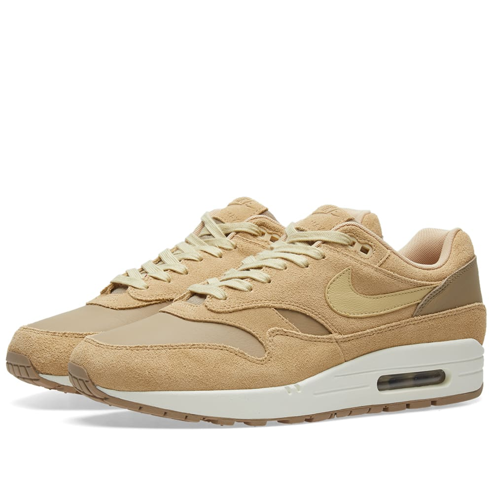 Nike Air Max 1 Premium Leather Herren Khaki AH9902 201