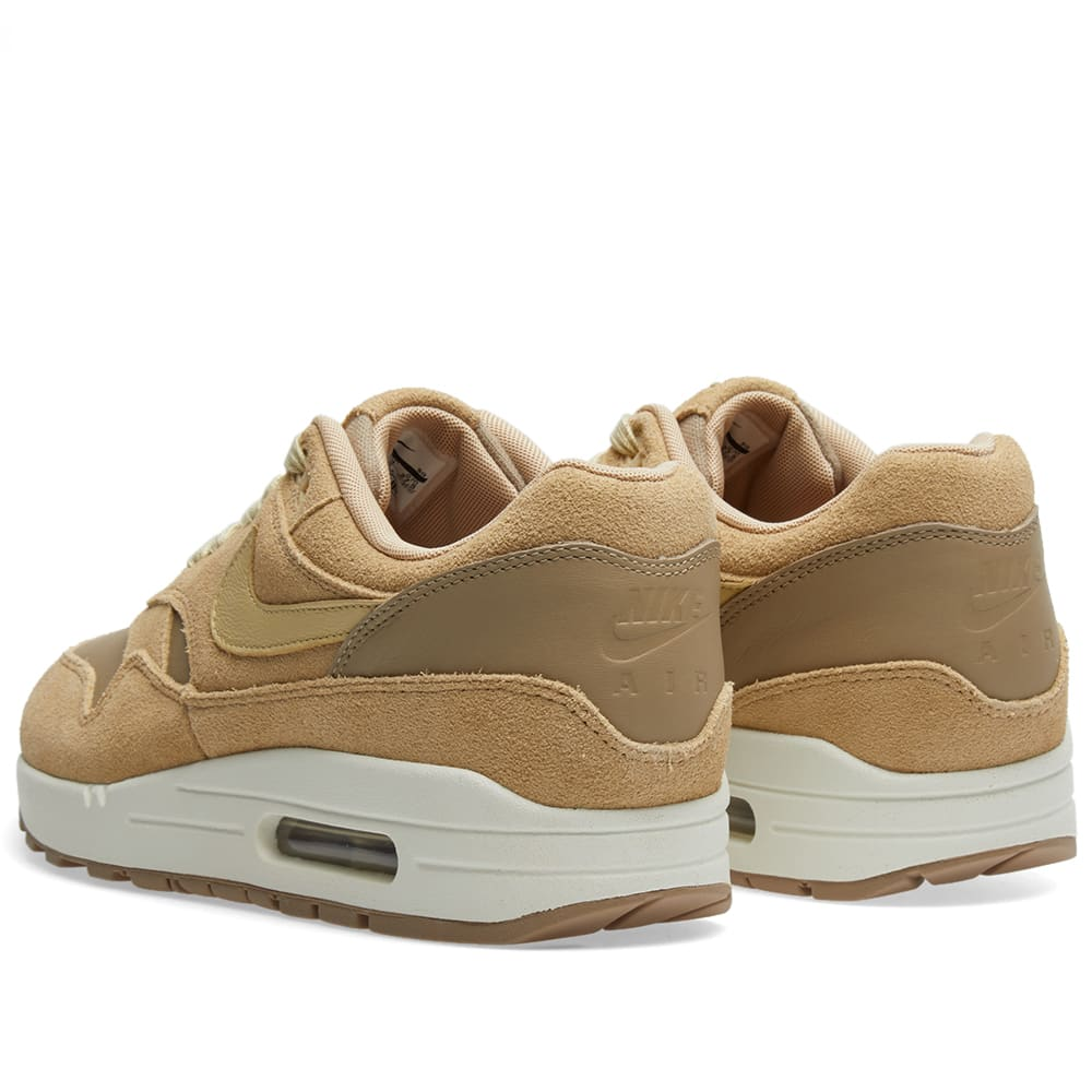 on sale 37f0a 7862d Nike Air Max 1 Leather Premium Khaki, Team Gold   Mushroom   END.