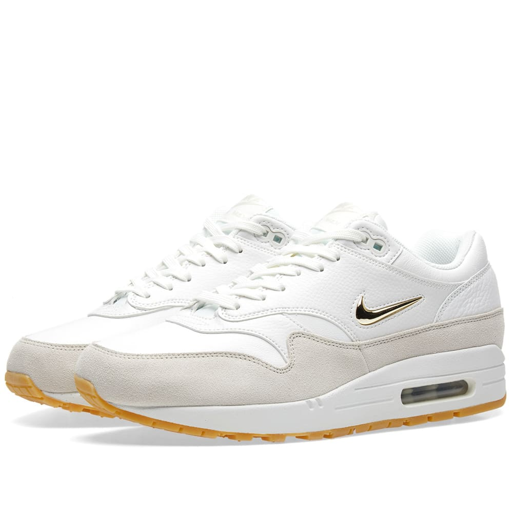save off 2f432 6f019 Nike Air Max 1 Premium SC W Summit White   Metallic Gold   END.
