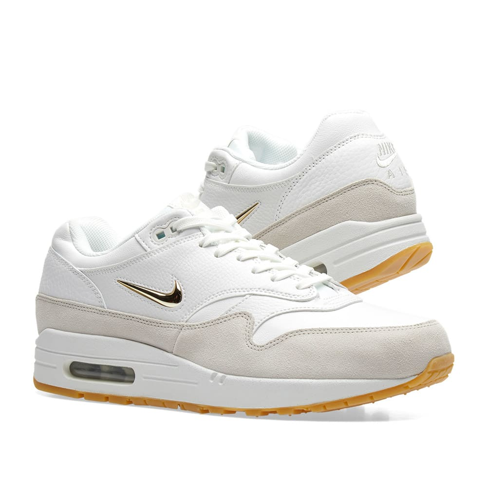 outlet store 44419 d3682 Nike Air Max 1 Premium SC W. Summit White   Metallic Gold