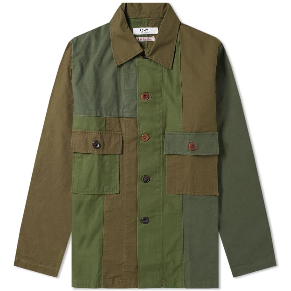 FDMTL Fdmtl Patchwork Shirt Jacket in Green