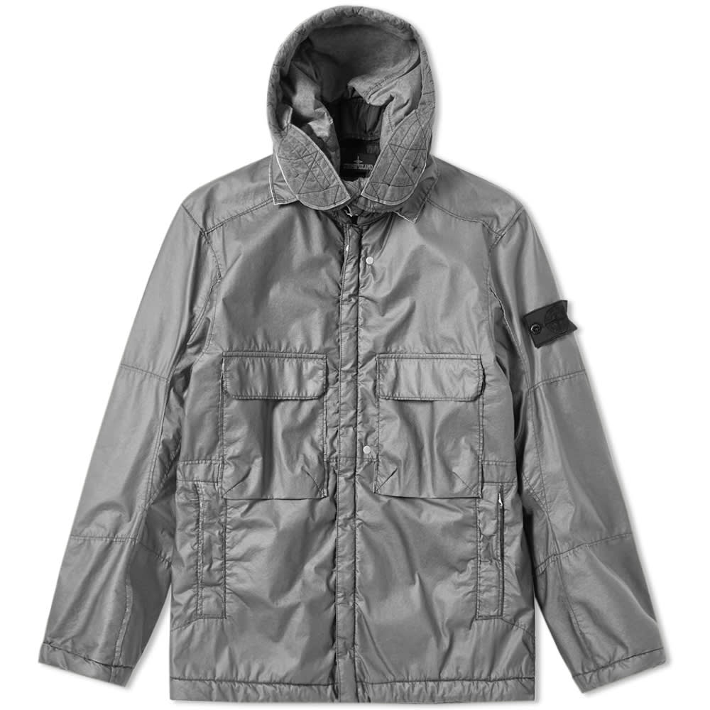 9bb92a3be3c Stone Island Shadow Project Poly Hide Garment Dyed Hooded Parka