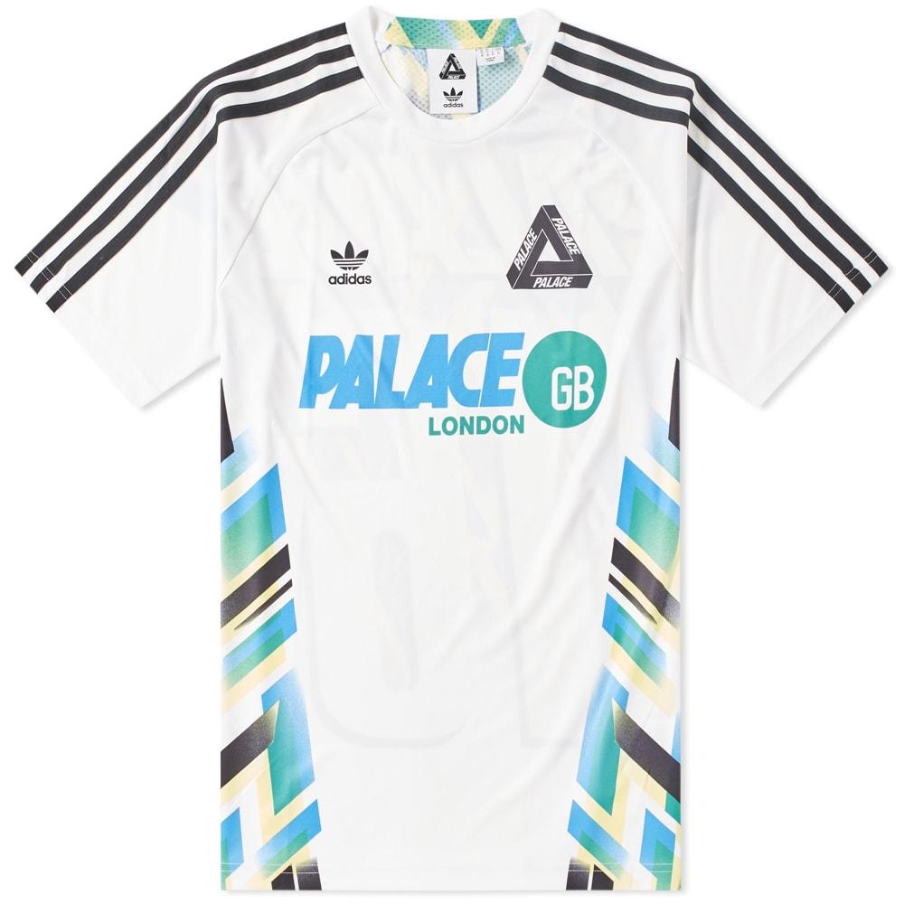 desfile fin de semana muestra  Adidas x Palace Home Jersey White & Black | END.