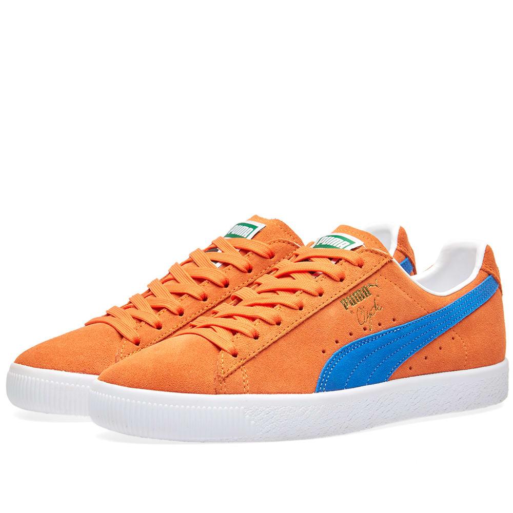 Puma Clyde NYC Vibrant Orange \u0026 Royal