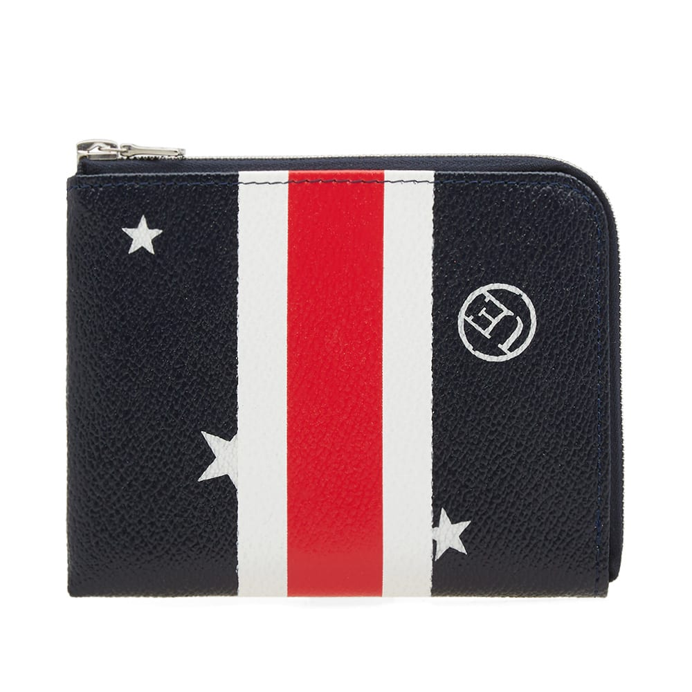 UNIFORM EXPERIMENT Uniform Experiment Star Stripe Small Wallet in Black