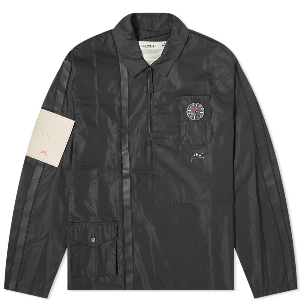 A-Cold-Wall* Tops A-COLD-WALL* Long Sleeve 3D Taped Pocket Compass Polo