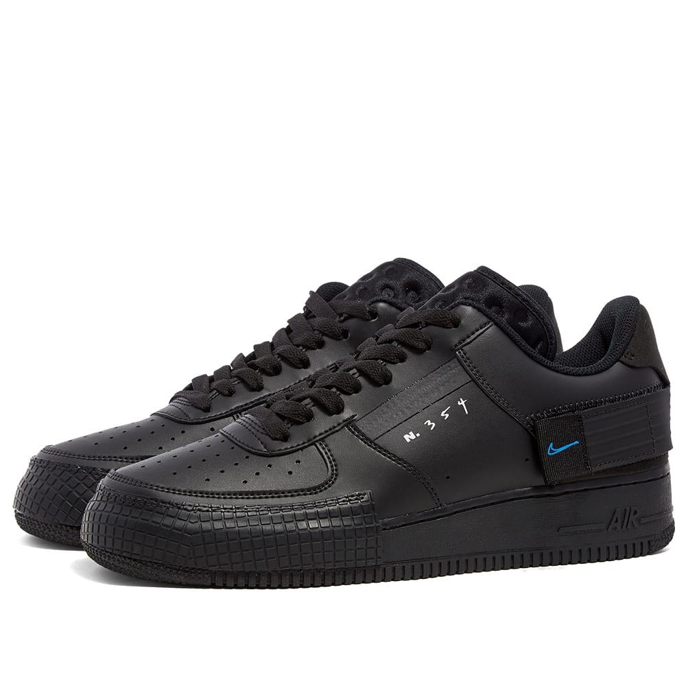 Compositor respirar Posibilidades  Nike Air Force 1 Type Black, Blue & Platinum | END.