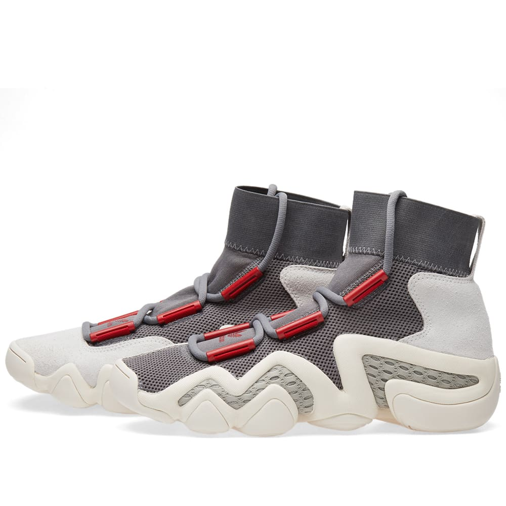 on sale 250d4 59868 Adidas Consortium Crazy 8 ADV Grey Foam, Power Red   Sesame   END.