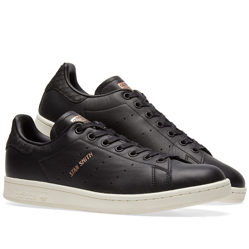 brand new 808dd 32094 Adidas Stan Smith W. Core Black   Copper Metallic