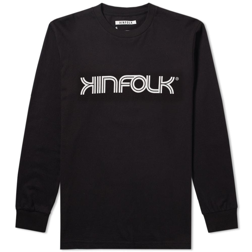 KINFOLK Kinfolk Long Sleeve Racer Tee in Black