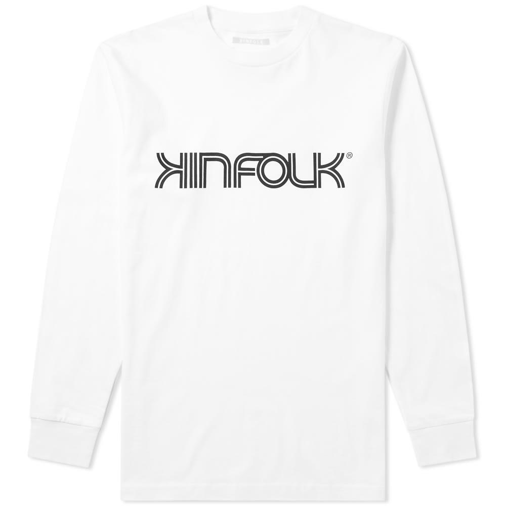 KINFOLK Kinfolk Long Sleeve Racer Tee in White