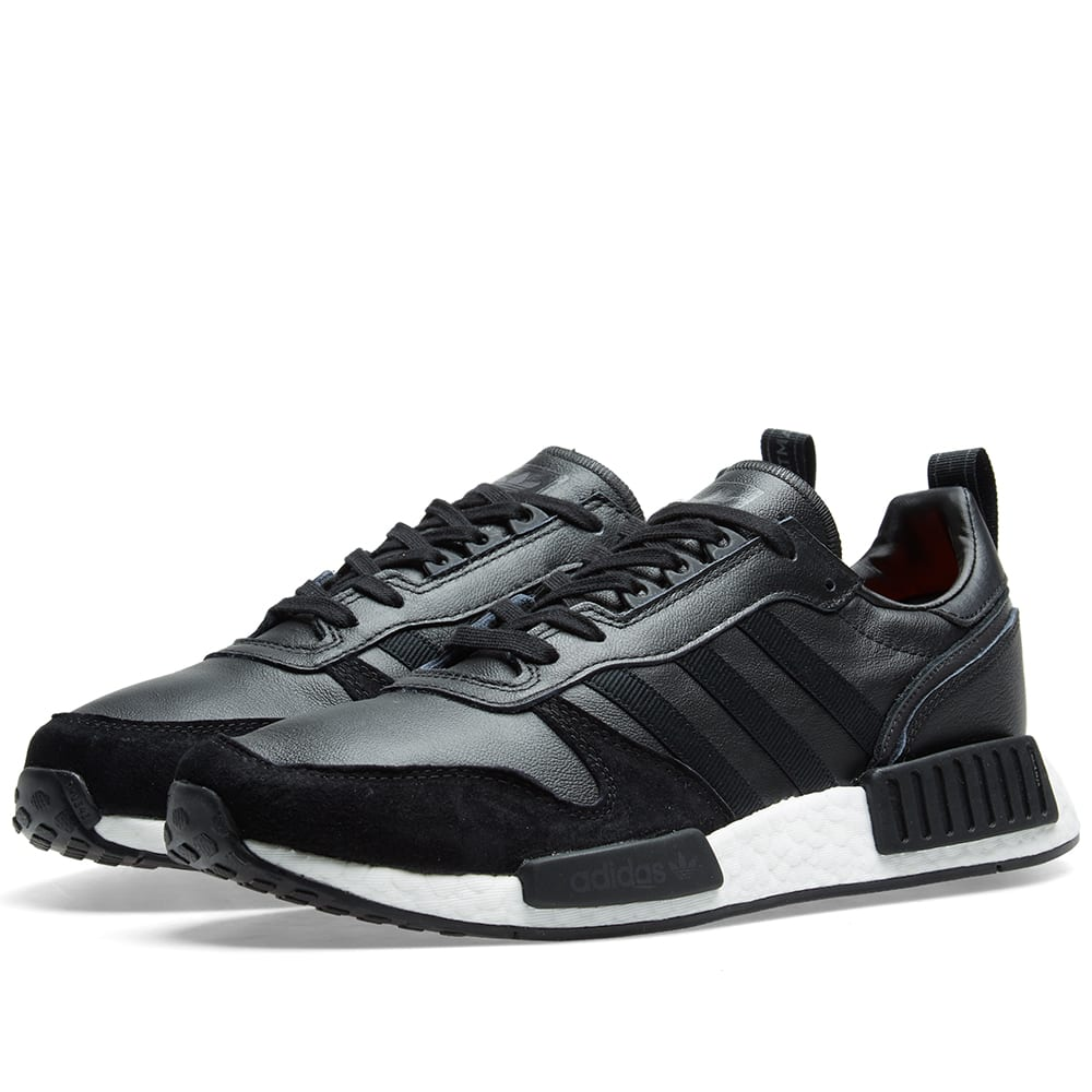 462f7185e7355 Adidas Rising Star x R1 Black   Solar Red
