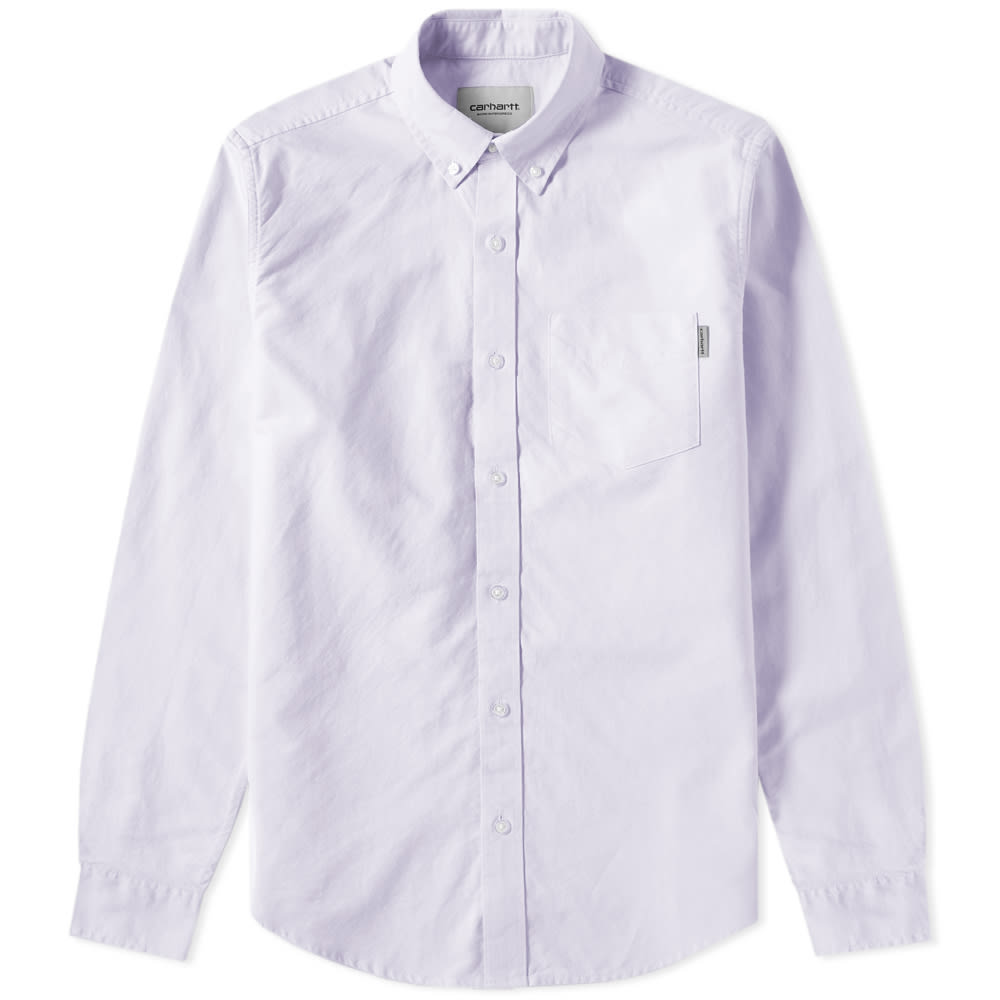 bf6031923a21 Carhartt Button Down Pocket Shirt Soft Lavender | END.