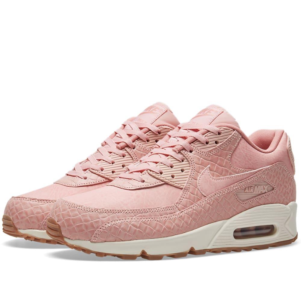 9bd34681c153 Nike W Air Max 90 Premium Pink Glaze   Pearl Pink