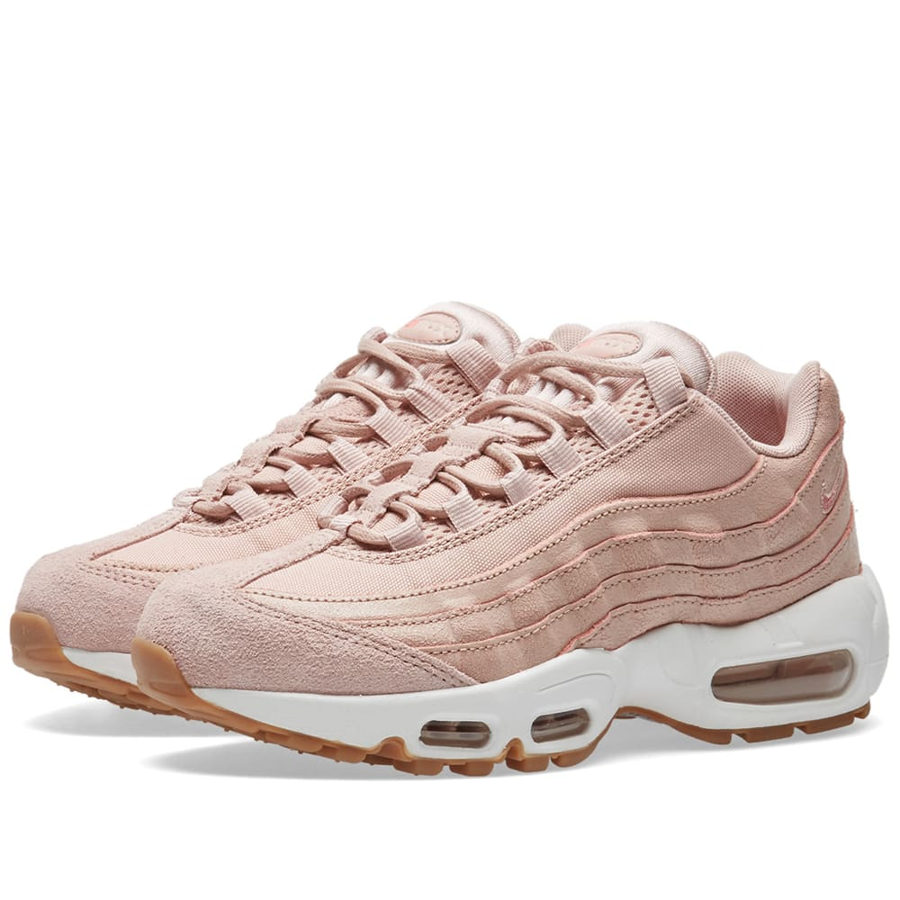 nike w air max 95 premium pink oxford bright melon. Black Bedroom Furniture Sets. Home Design Ideas