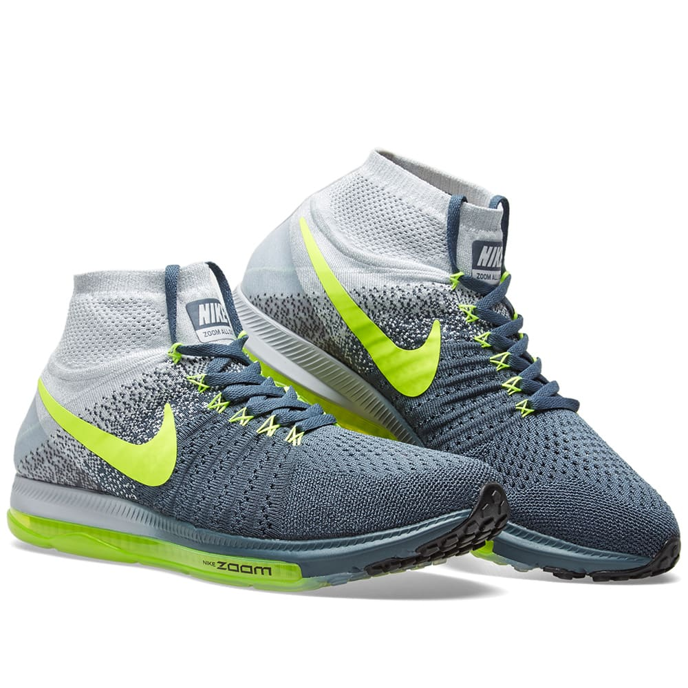 check out 61f1a 80ef5 Nike Zoom All Out Flyknit. Blue Fox   Volt