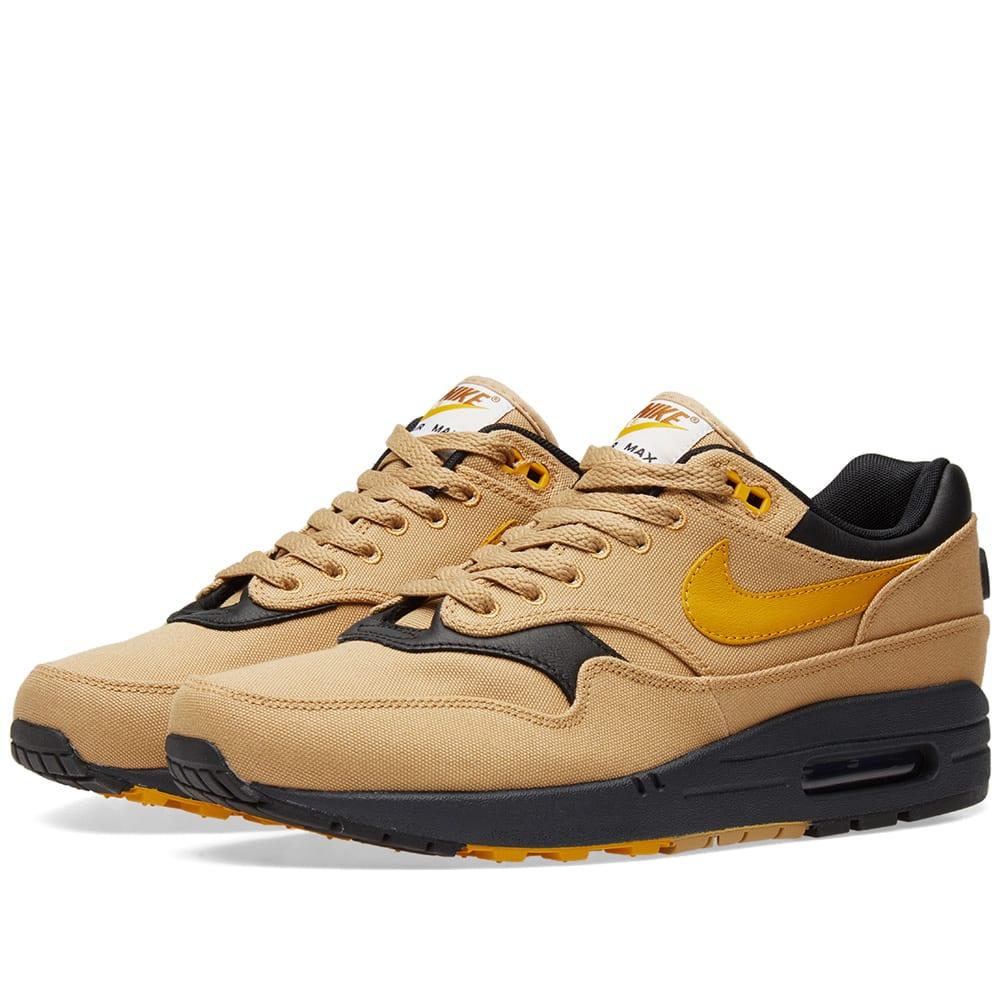 """Men's Nike Air Max 1 Premium """"Elemental Gold"""" 875844 700"""
