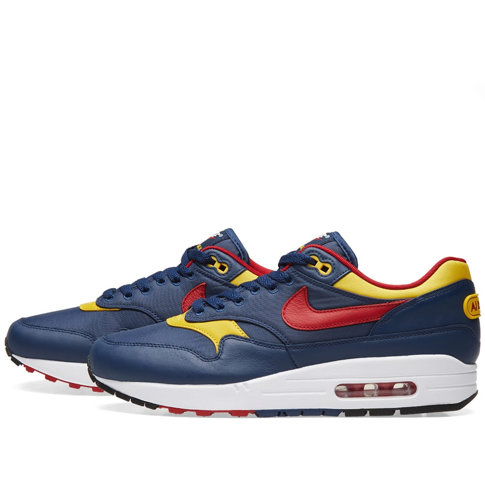 Nike NZ Sneaker Navy Gym Red Vivid Sulfur Whit Air Max 1
