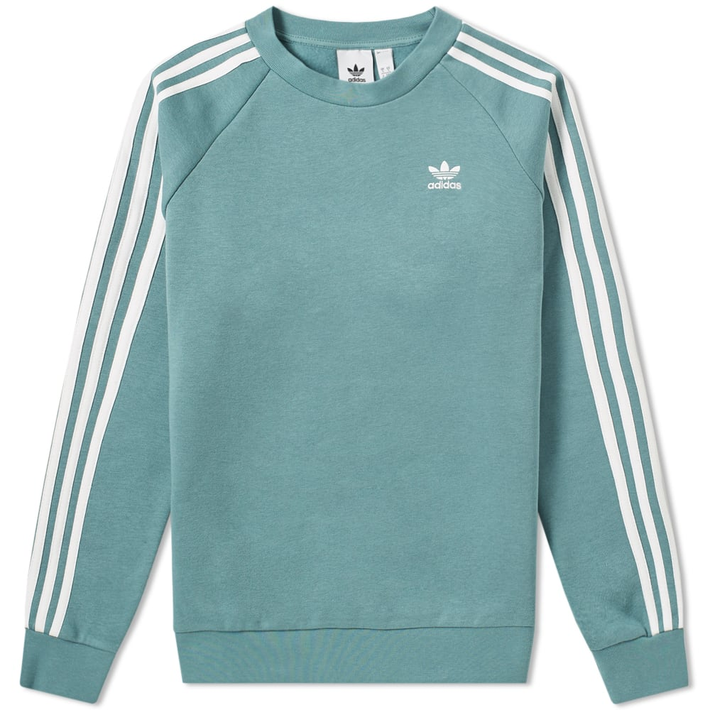 Adidas 3 Stripe Crew Sweat