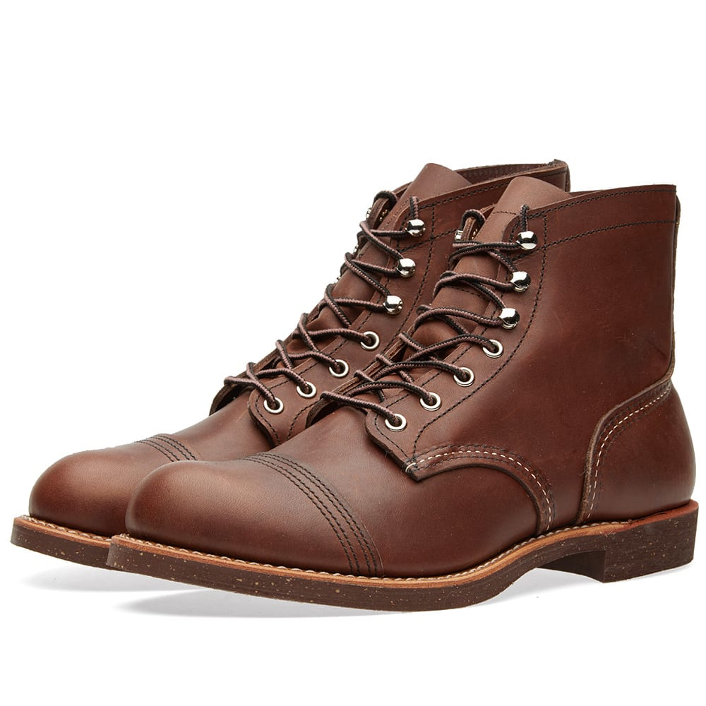 RED WING 'Iron Ranger' 6 Inch Boot in Brown