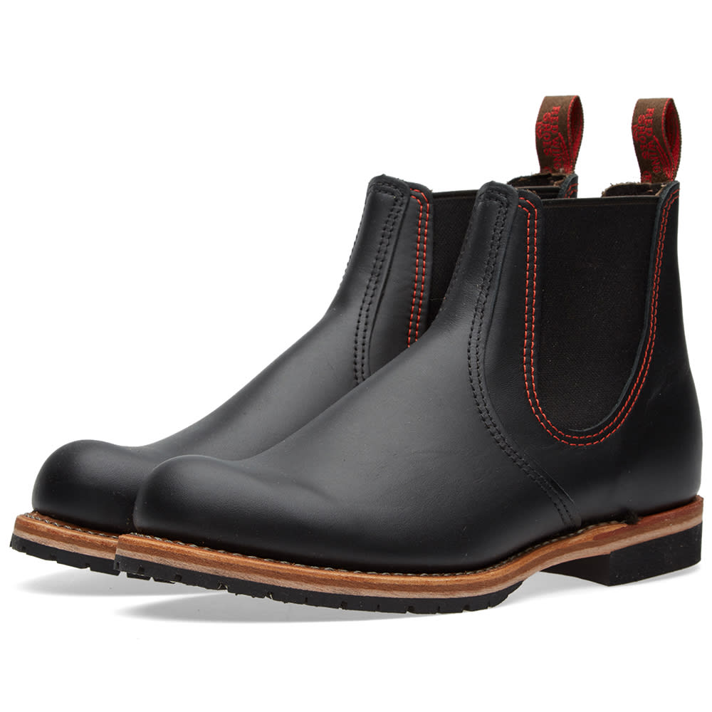 2918 Mens Wing Red Black Chelsea Rancher 8mNv0wOn