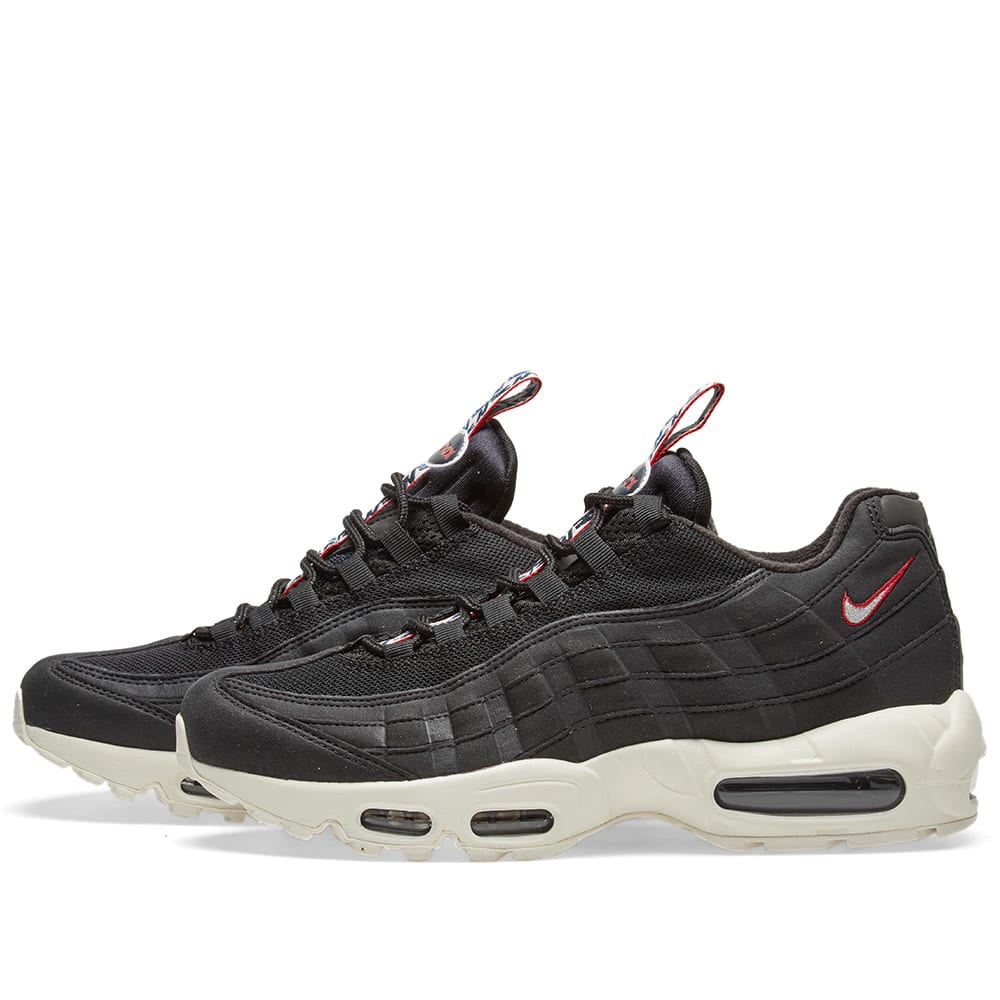 pretty nice 447ce 8471d Nike Air Max 95 TT Black, Sail   Gym Red   END.