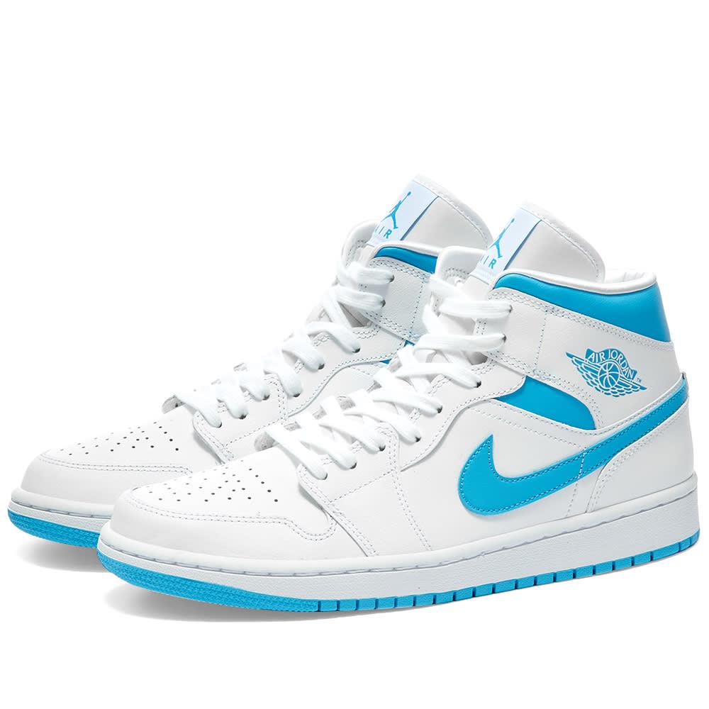 Air Jordan 1 Mid W White Blue End