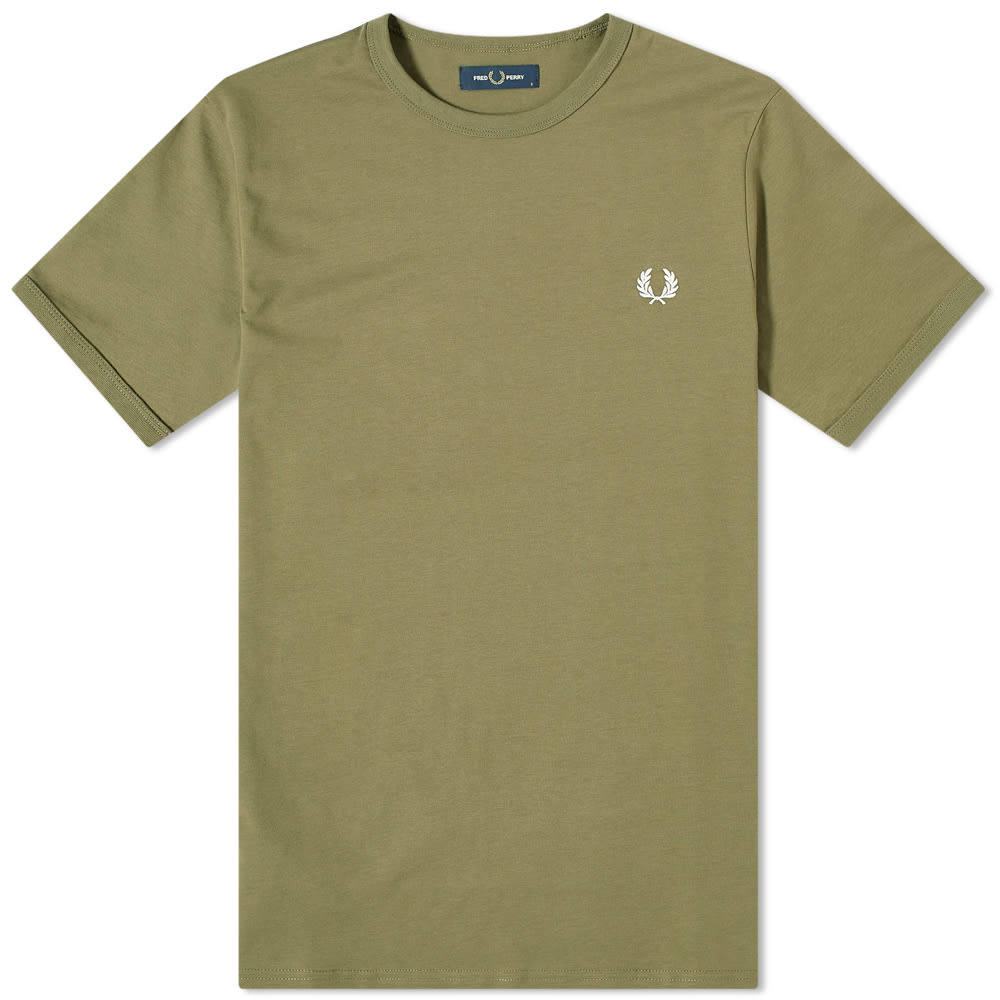 Fred Perry Authentic Ringer Tee Military Green | END.