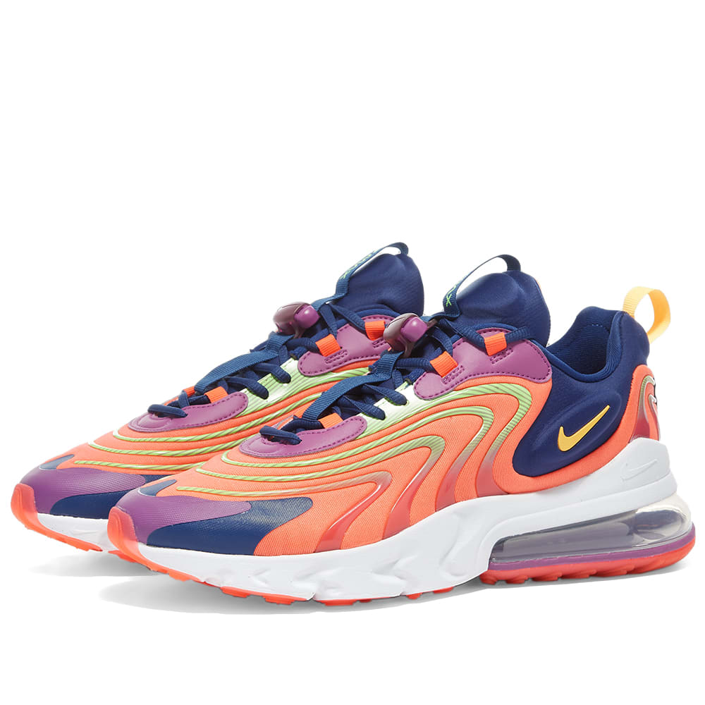 Nike Air Max 270 React Eng Crimson Orange Purple End
