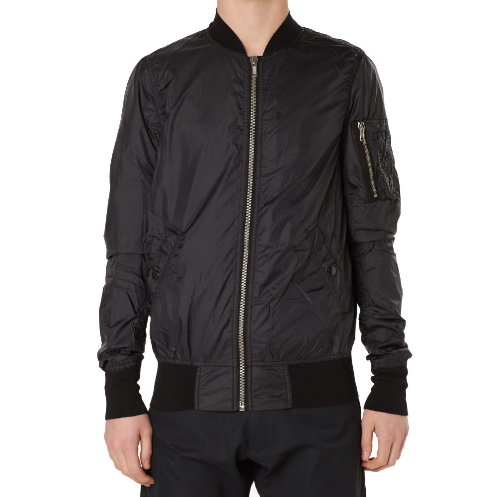 Black Nylon Flight Jacket 54